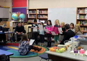 French Immersion Choir performance at Millstream Elementary.