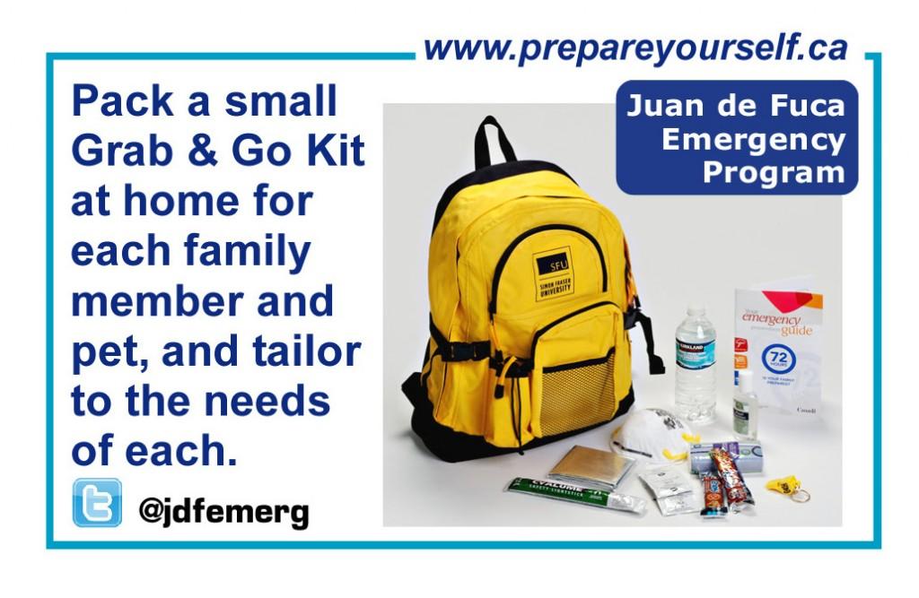 emergency kit, Juan de Fuca Emergency Program