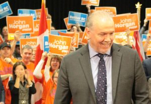 BC NDP Leader John Horgan at his local campaign launch in Langford, as the candidate for Langford-Juan de Fuca [Photo Copyright 2017 West Shore Voice News]