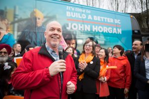 BC-NDP campaign bus launch in Vancouver, April 4