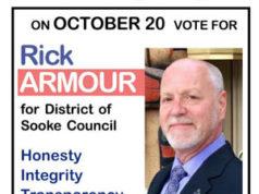 rick armour, sooke, municipal candidate