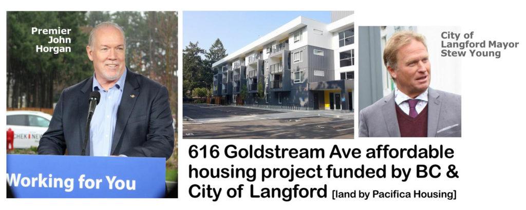 premier john horgan, langford mayor stew young, affordable housing