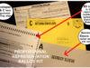 proportional representation, ballot