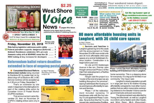 West Shore Voice News, November 23 2018