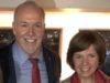 Premier John Horgan, candidate Sheila Malcolmson