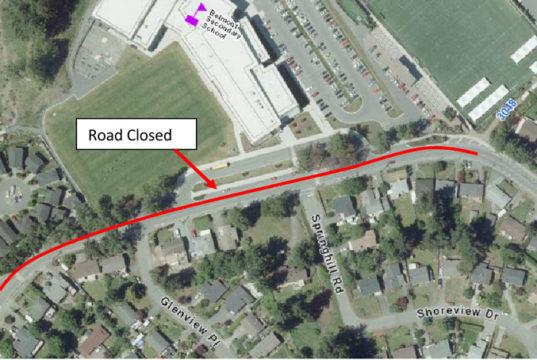 langford, glen lake road, power outage, traffic detour