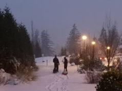 snow day, sledding, Langford, snowfall