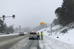 highway 1, TCH, city of langford, snow