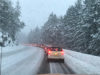 Malahat, snowy road, Highway 1, Langford