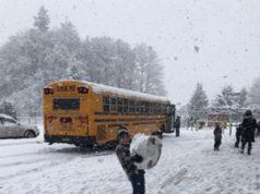 SD62, snowday, school bus