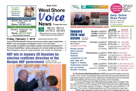 February 1, 2019, west shore voice news