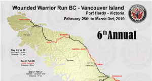 Wounded Warriors Canada, Vancouver Island Run, fundraiser, Langford, 2019