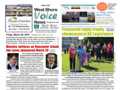 West Shore Voice News, measles, rugby trophy