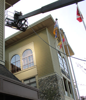Langford City Hall, film shoot