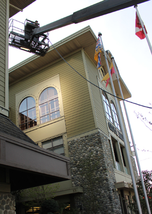 Langford City Hall, film shoot