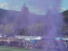 Pacific FC, purple smoke, inaugural game