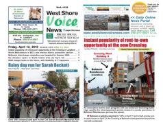 West Shore Voice News, April 12 2019