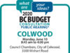 BC Budget 2020, Colwood