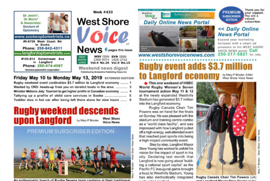 West Shore Voice News, May 10 to 13, 2019