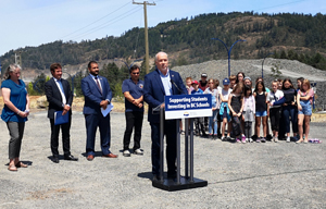 Premier John Horgan, SD62, new schools, Constellation Ave