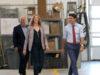 Prime Minister Justin Trudeau, Premier John Horgan, BC Transit CEO Erinn Pinkerton