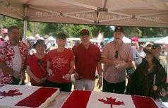 Canada Day Sooke, Premier John Horgan, cutting cake
