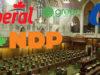 four political parties, Canada