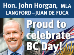 Premier John Horgan, BC Day