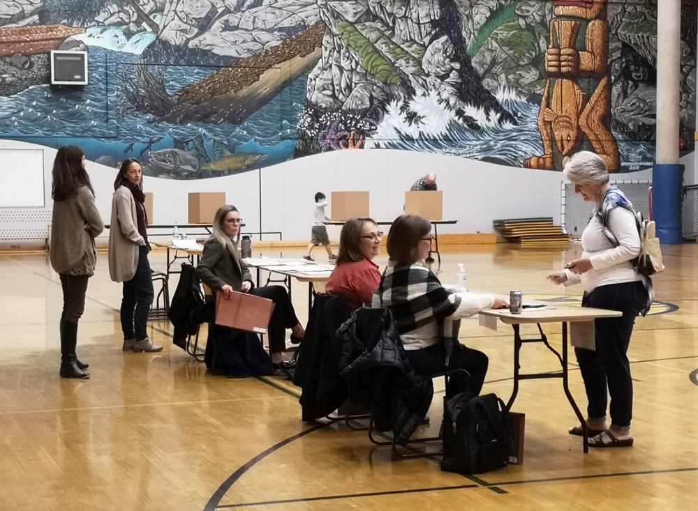 Sooke byelection, voting place, EMCS