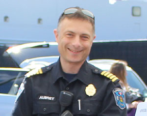 Langford Fire Chief, Chris Aubrey