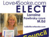 Lorraine Pawlivsky-Love, Sooke by-election, candidate