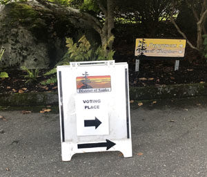 District of Sooke, advance voting, signage