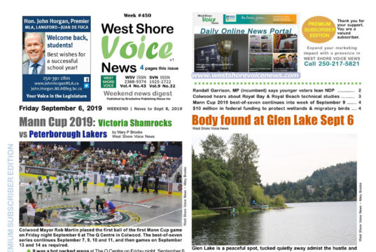 West Shore Voice News, September 6 issue, 2019