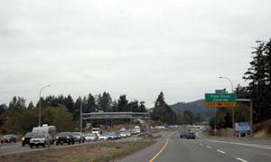 commuter traffic, highway 1, September 2019