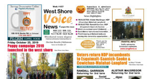 West Shore Voice News, October 25 2019, page 1