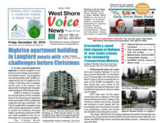 page one, West Shore Voice News, December 20th 2019