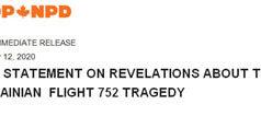NDP statement about Flight 752