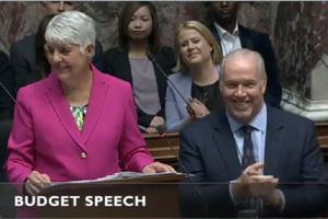Budget 2020, Premier John Horgan, Finance Minister Carole James