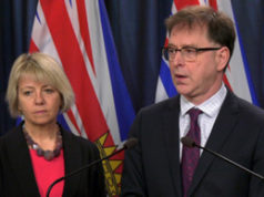 BC Public Health Officer Dr Bonnie Henry, Health Minister Adrian Dix