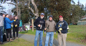 City of Colwood Councillors Dean Jantzen, Michael Baxter and Gordie Logan, Green Team of Greater Victoria, Perimeter Park