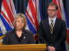 Provincial Health Officer Dr Bonnie Henry an, Health Minister Adrian Dix