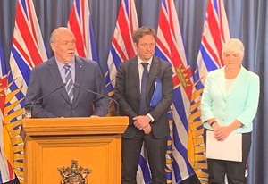 John Horgan, Rob Fleming, Carole James, school closures, COVID-19