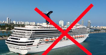 cruise ship, no travel