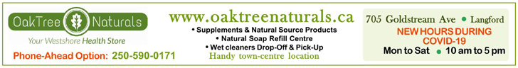 OakTree Naturals, Langford, COVID-19 hours