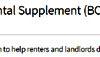 BC rental supplement, BC housing, COVID-19