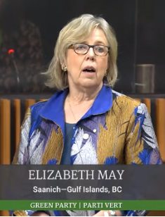 Green Parliamentary Leader Elizabeth May