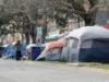 homeless, tents, Pandora Ave, Victoria