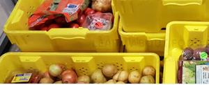 food bank, food bins
