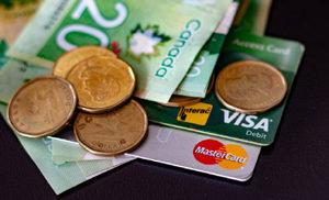 cash, credit card, Canada