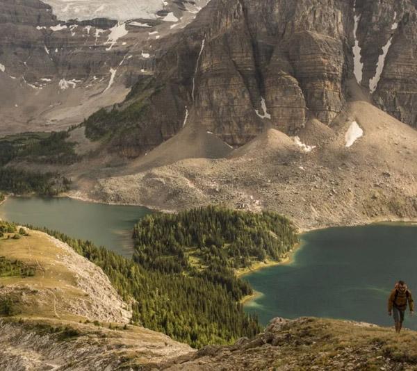 hiker, trail, Nublet, Lake Magog
